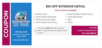 $10 Off Exterior Detail