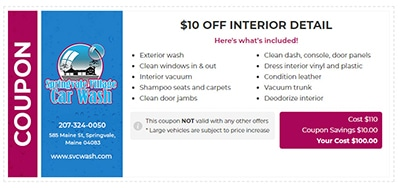$10 Off Interior Detail