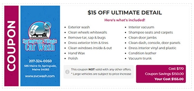$15 Off Ultimate Detail